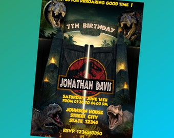 Jurassic World Invitation,Jurassic World Birthday Invitation,Jurassic World Birthday,Jurassic World Birthday Party,Birthday Invitation