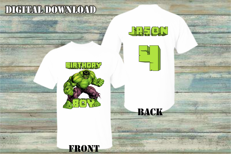 Hulk Iron On Transfer Hulk Birthday Shirt Iron On Transfer Etsy