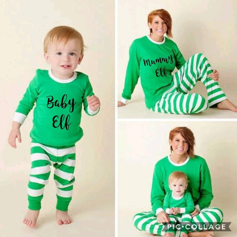 Family elf Christmas pyjamas family Christmas pajamas  b357c102d