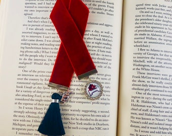 Arkansas Razorback Velvet Ribbon Bookmark