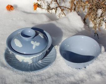 Handmade Korean Gaiwan Tea Set with Tea Cup - Tiger and Magpie