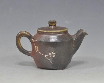 Handmade Wood-fired Korean Natural Glaze Ceramic Teapot