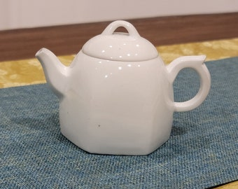 Handmade Wood-fired Korean Baekja White Porcelain Teapot