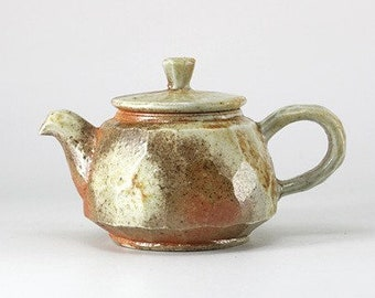 Handmade Wood-Fired Korean Carved Natural Glaze Ceramic Tea Pot, Gong Fu Cha, Tea Ceremony