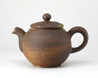 Handmade Korean Wood-Fired Natural Glaze Ceramic Teapot, Gong Fu Cha, Tea Ceremony