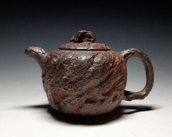 Handmade Korean Natural Glaze Ceramic Teapot - Gwanggaeto