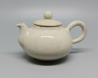 Handmade Korean Wood-Fired Dumbung Buncheong Ceramic Teapot