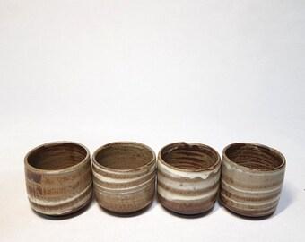 Handmade Korean Buncheong Tea Cup Set for Gong Fu Cha