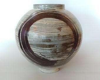 Handmade Wood-fired Korean Chulhwa Buncheong Ceramic Jar