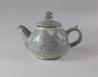 Handmade Wood-Fired Korean Dumbung Buncheong Teapot