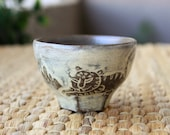 Handmade Korean Teacup - Tiger Minhwa by Guem Tae Woong, Wood-fired, Gong Fu Tea