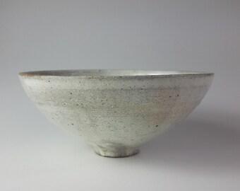 Handmade Wood-Fired Korean Dumbung Buncheong Tea Bowl