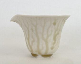 Handmade Korean Charcoal-Fired Baekja White Porcelain Fair Cup, Gong Fu Cha, Tea Ceremony
