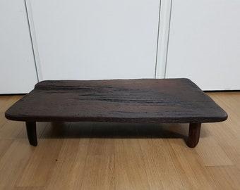 Handcrafted Korean Reclaimed Wood Tea Table from Jeju Island