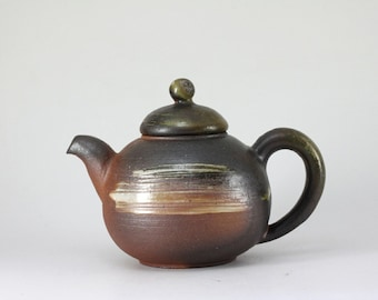 Handmade Korean Wood-Fired Natural Glaze Gwiyal Teapot