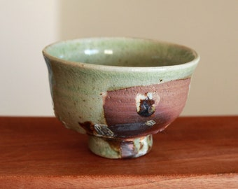 Handmade Wood-fired Korean Green Glaze Ceramic Teacup, Gong Fu Cha, Tea Ceremony