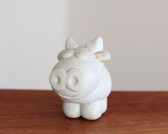 Handmade Korean Ceramic Cow Tea Pet for Year of the Cow (Ox)