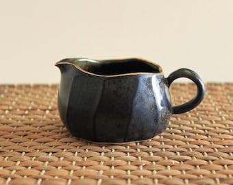 Handmade Matte Black Glaze Porcelain Fair Cup (Tea Pitcher), Gong Fu Tea