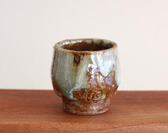 Handmade Wood-fired Ash Glazed Korean Ceramic Teacup / Sake Cup, Gong Fu Cha