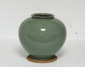 Handmade Korean Celadon Moon Jar