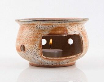 Handmade Korean Ceramic Tea Warmer Set with Shino Glaze