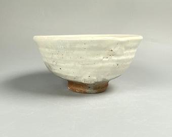Handmade Korean Charcoal-Fired Dumbung Buncheong Tea Bowl