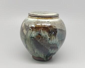 Handmade Korean Hoeryong Tea Caddy for Loose Tea Storage, Ceramic Tea Canister, Aging Jar, Gong Fu Tea