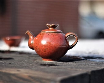 Handmade Korean Reduction-fired Autumn Leaf Glaze Ceramic Teapot