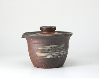 Handmade Korean Wood-Fired Natural Glaze Gwiyal (Hakeme) Shiboridashi Gaiwan Teapot