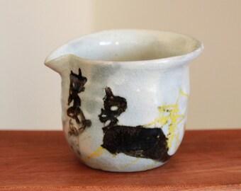 Handmade Wood-fired Chulhwa Iron Painting Buncheong Ceramic Fair Cup, Tea Pitcher, Gong Fu Tea, Tea Ceremony