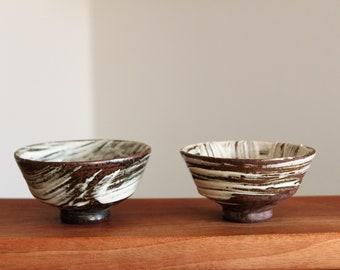 Handmade Charcoal-fired Korean Gwiyal (Hakeme) Buncheong Tea Cups, Large, Gong Fu Tea, Tea Ceremony