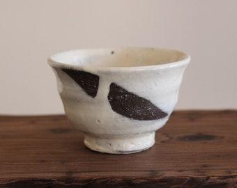 Handmade Korean Dumbung Buncheong Tea Cup by Master Potter Shin Wang Gun