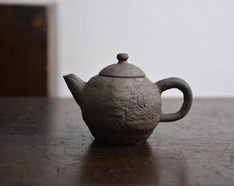Handmade Korean Wood & Soda-Fired Natural Glaze Tea Pot