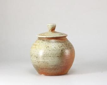 Handmade Wood-Fired Korean Natural Glaze Tea Caddy for Loose Tea Storage, Ceramic Tea Canister, Aging Jar, Gong Fu Tea