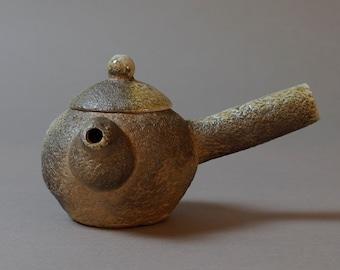 Handmade Wood-Fired Korean Kyusu Teapot