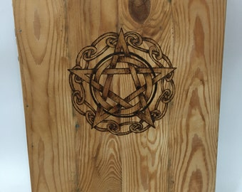 Pentacle Wooden Book Cover