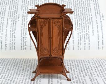 Art Nouveau Armoire dollshouse miniature 1:24 kit