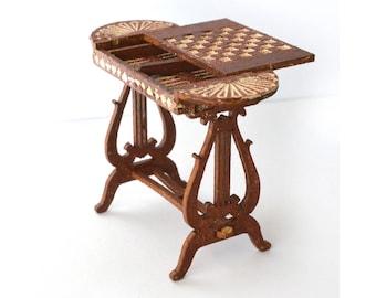 1:24 Games Table dollhouse miniature kit