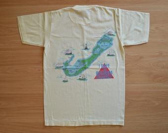 Small // Shaffer's // Underwater World // Bermuda // T-Shirt // Tee // Diver // Bermuda Triangle // I Dove the Bermuda // Vintage // 1990s