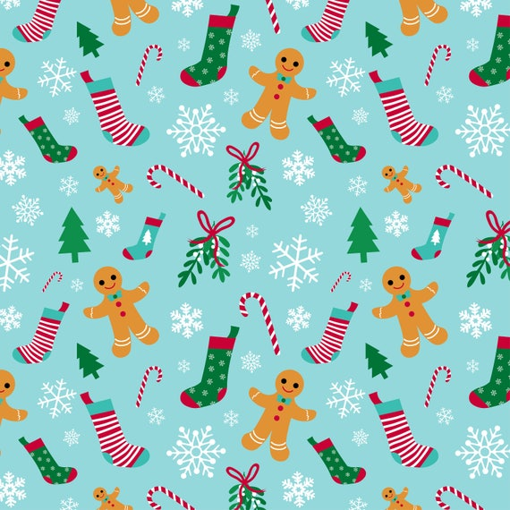 Christmas Gift Wrap Design.Cute Christmas Gift Wrap Wrapping Paper