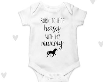 BORN TO RIDE MOTOCROSS baby vest custom print baby SHOWER gift present
