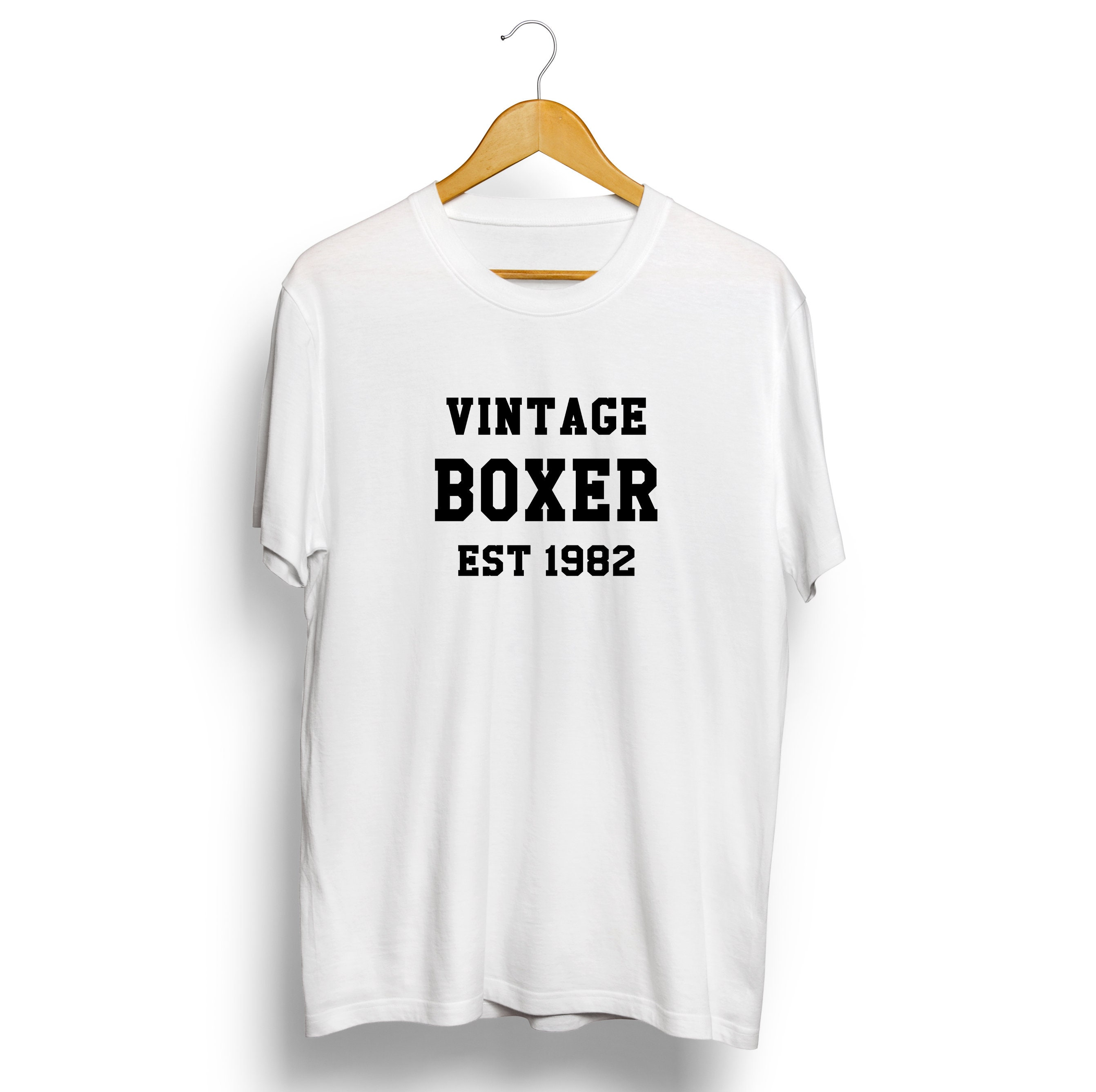 Vintage Boxer Personalised T-shirt Sports Mens Womens Hoodie Tshirt