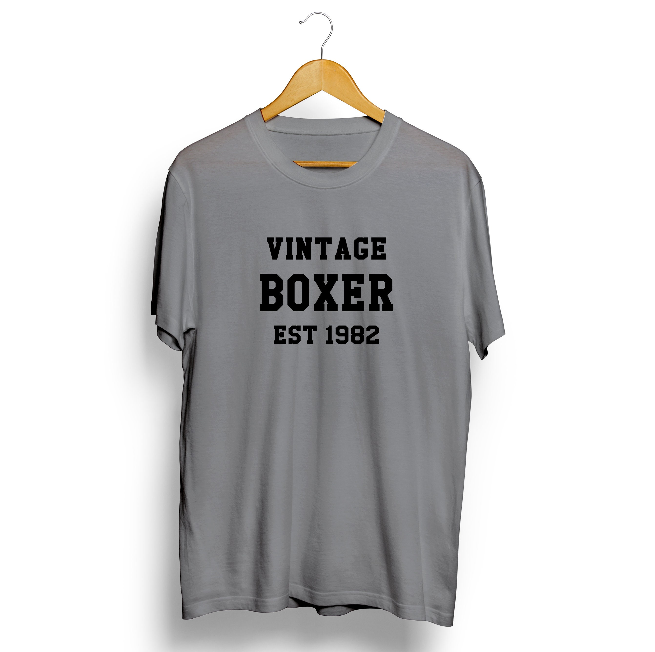 Vintage Boxer Personalised T-shirt Sports Mens Womens SweatShirt