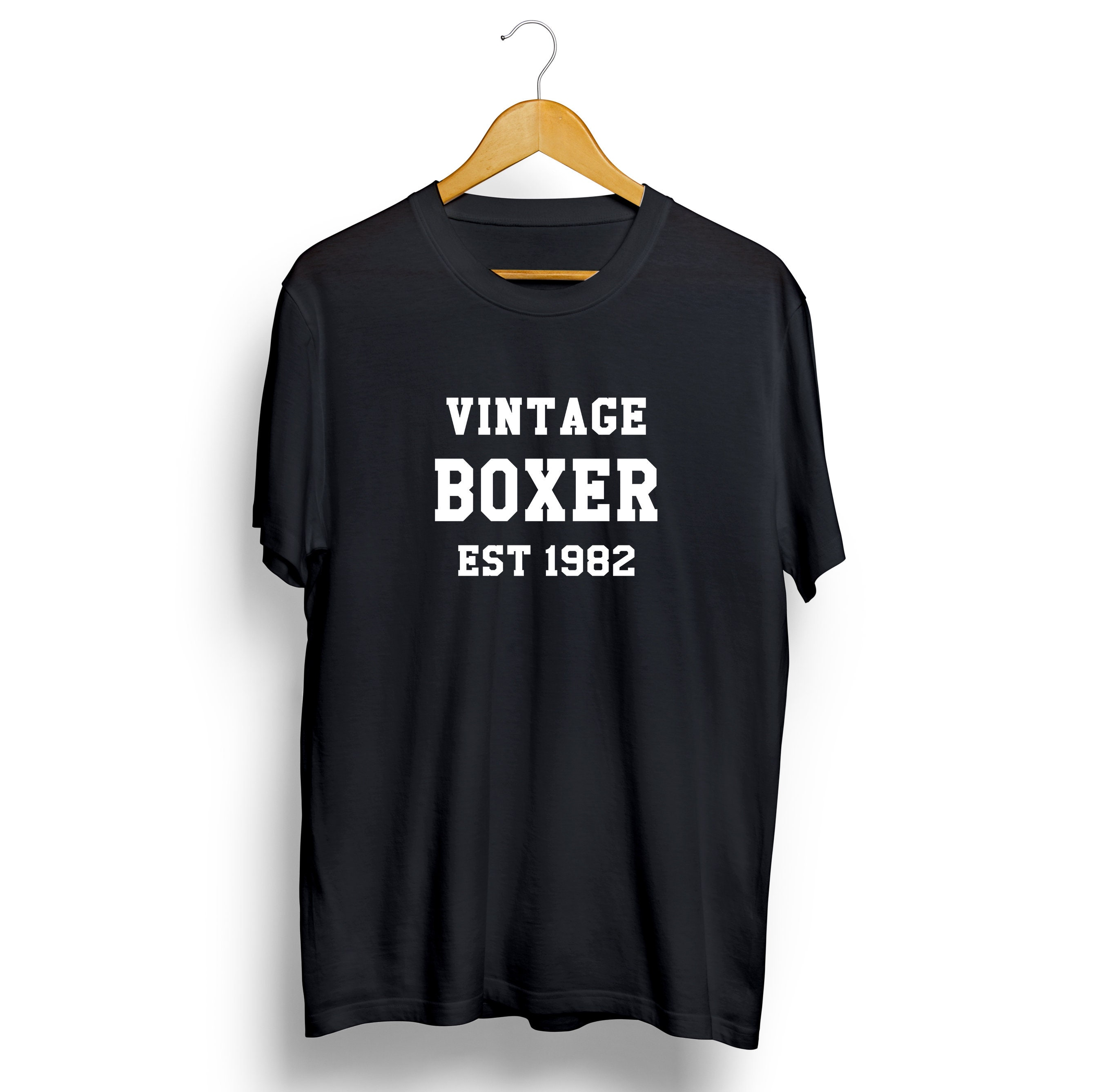 Vintage Boxer Personalised T-shirt Sports Mens Womens LongSleeve Tee