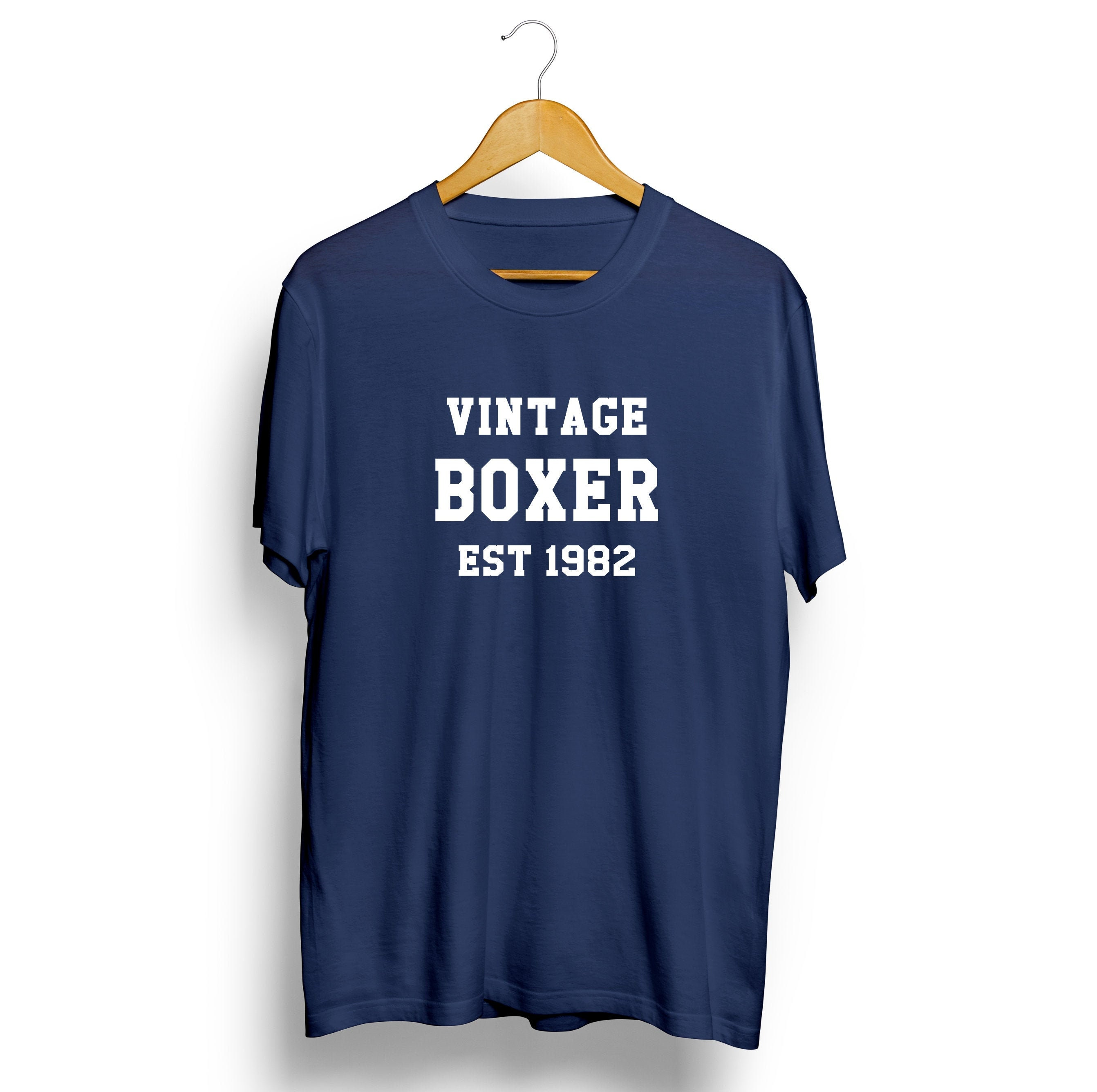 Vintage Boxer Personalised T-shirt Sports Mens Womens Unisex Tshirt