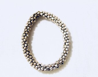 German Silver Coiled Bracelets