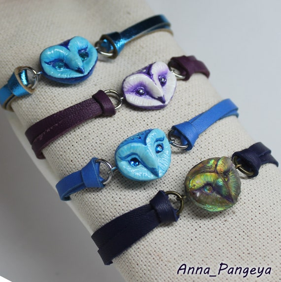 Owl bracelet multi-colored
