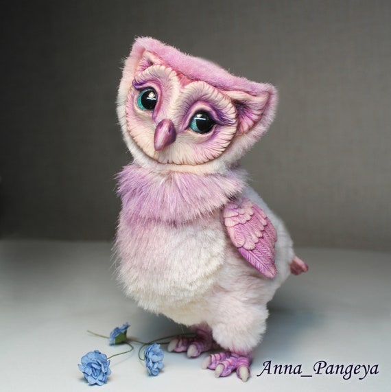 Toy pink owl
