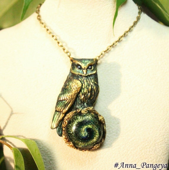 Eagle owl necklace Owl pendant Owl jewelerry