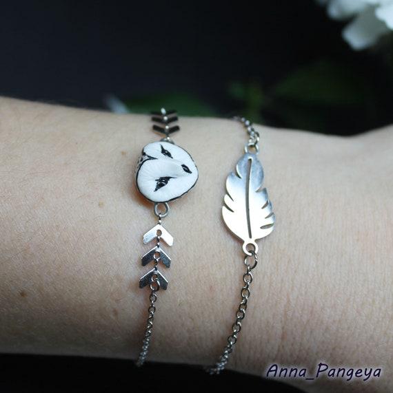 Snowy Owl Bracelet
